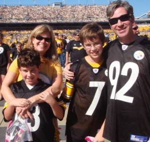 Pechersky family at a Pittsburgh Game