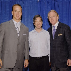 Scott with Peyton and Archie Manning