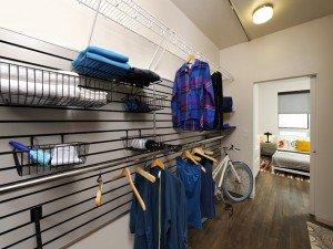 Two-Bedroom Customizable Closet via AVA H Street Official Website