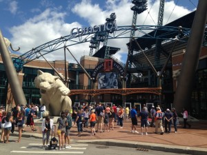 Game day at Comerica Park, home to the Detroit Tigers.
