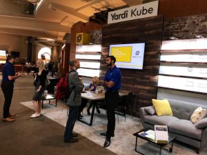 The Yardi Kube booth at this week's GCUC event in Denver.