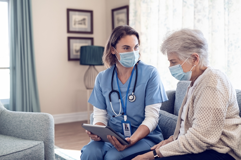 Canada senior living care provider and patient